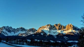 Sonnenuntergang am Kaiser