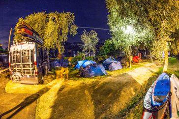 Nachts am Camping Baldo... Nur Klotzi ist noch wach...