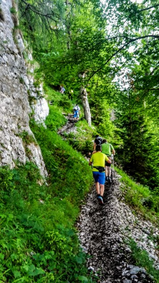 Bergauf-Schnaufen