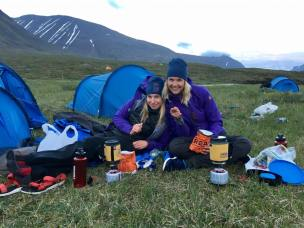 ME & MY Tent-Buddy Anna. Dinner Situation, Day2