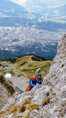 Innsbruck im Rücken