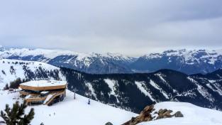 Blick auf die neue Bergstation der Spieljochbahn
