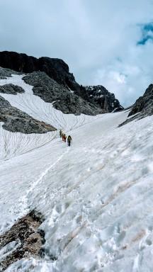 Altschneefelder am Molignonpass