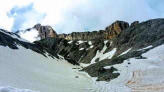 Blick zum Roterdspitz (Cima di Terrarossa 2655m)