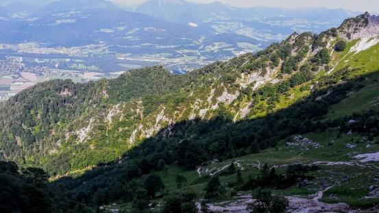 Blick zurück auf Salzburg & den ersten Teil des Dopplersteigs