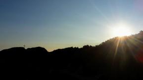 Sonnenaufgang am Weg zum Salzburger Hochthron