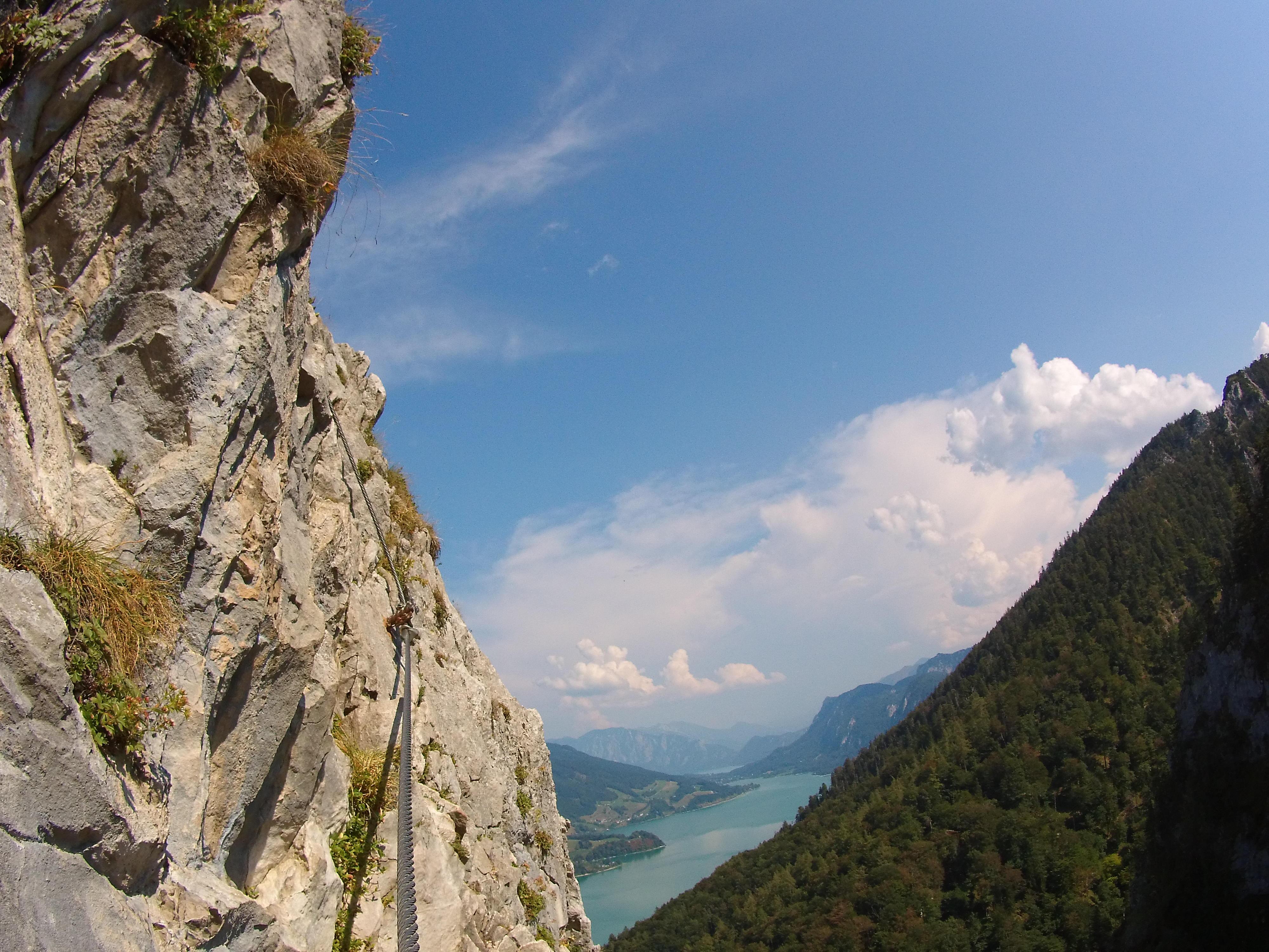 Klettersteig Mondsee : Drachenwand klettersteig mondsee u bergseensucht