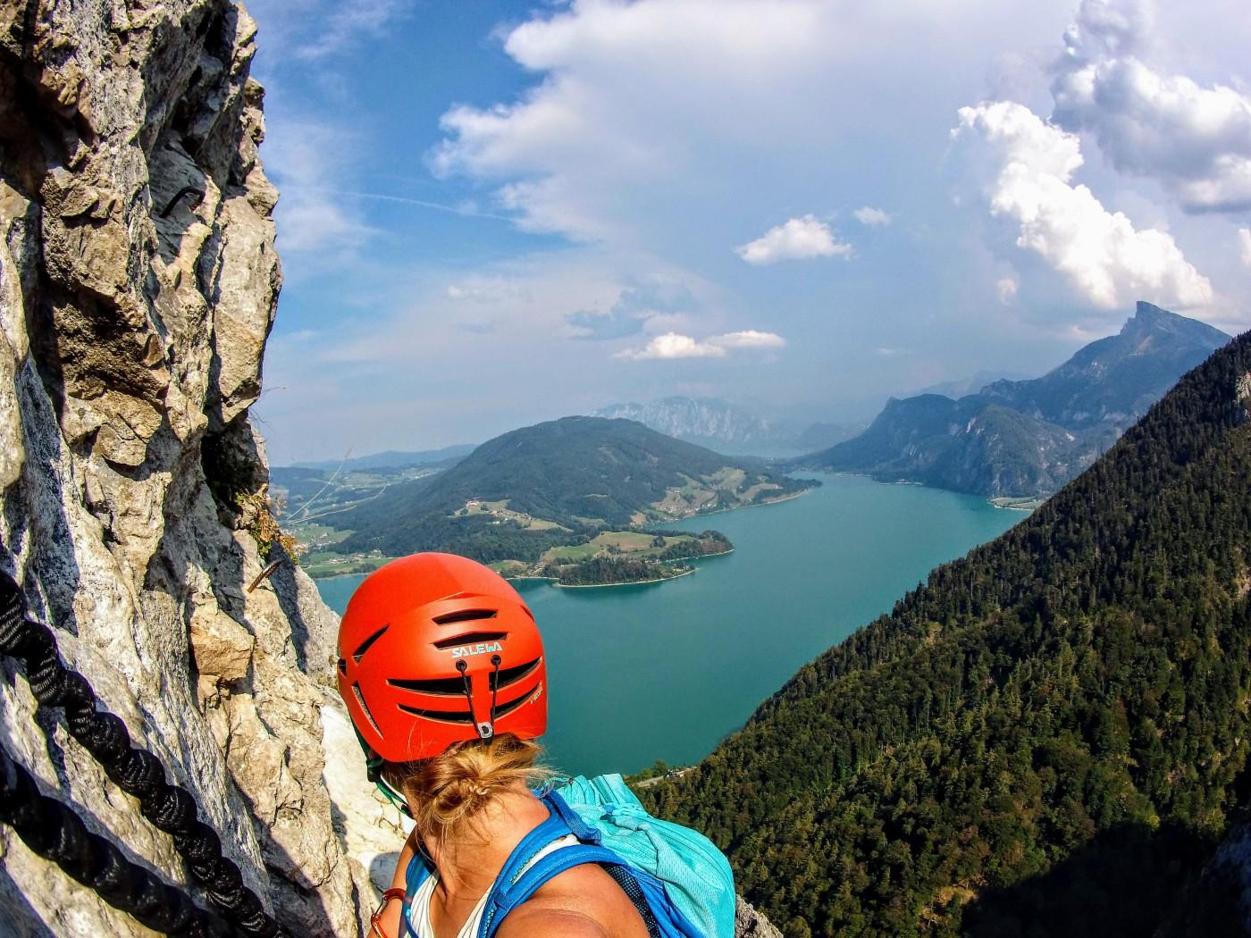 Klettersteigset Gebraucht Kaufen : Drachenwand klettersteig mondsee u2013 bergseensucht
