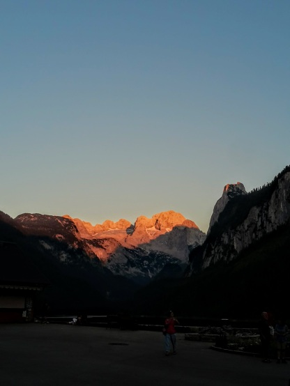 Sonnenuntergang am Gosausee