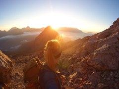 Sonnenaufgang Leoganger Stoaberg