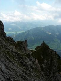 Letzter Blick ins Tal oberhalb des Hochtor