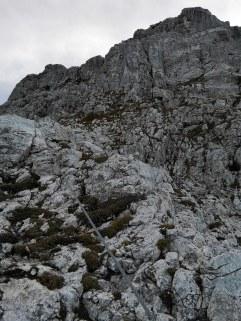 Zum Einstieg Gams Klettersteig