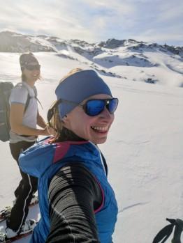 Meine Tourenpartnerin Yvonne, die alpine Rakete