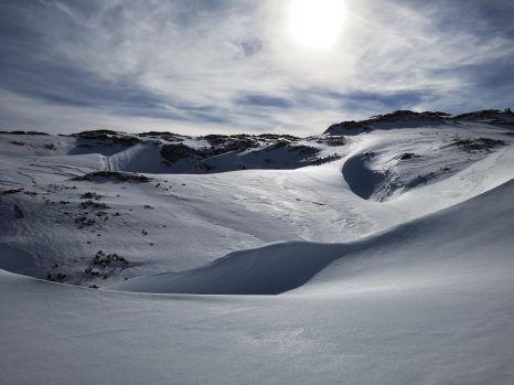 Karstgelände im Winter