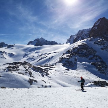 Blick von der Simony zurück zum Hallstätter Gletscher