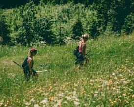 Durch Blumenwiesen...