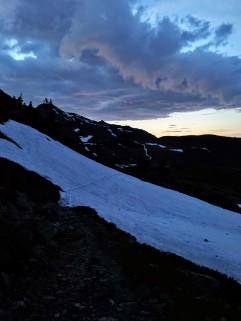 Blick zurück ins erste Altschneefeld...