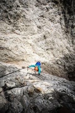 Steile Einstiegswandl (c)E.Husic
