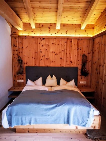 Schlafzimmer Zirbenhäusl Korum