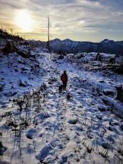 Abstieg mit Kalmberg-Blick