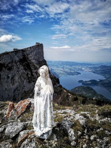 Gipfel-Madonna der Spinnerin