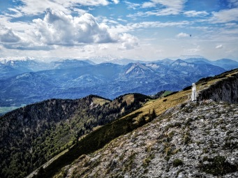 Gipfelmadonna, Blickrichtung Salzburg