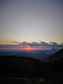 Sonnenaufgang um kurz nach 5